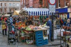Dublin Irlandia Uliczny rynek Zdjęcia Stock