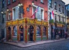 Dublin- kajstång royaltyfri foto