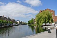 Dublin kanal Arkivfoto