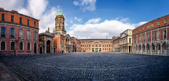 Dublin kasztelu podwórze Zdjęcia Royalty Free