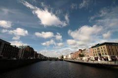 Dublin krajobraz na rzecznym Liffey Fotografia Royalty Free