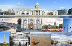Dublin landmarks set Royalty Free Stock Photo