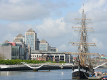 Dublin - Liffey river Royalty Free Stock Images