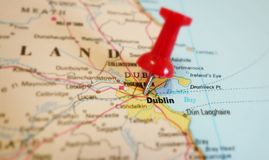 Dublin map Stock Image