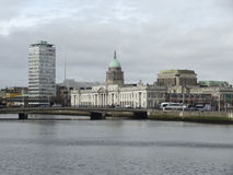 Dublin med det beställnings- huset Arkivfoto