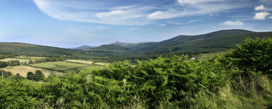 Dublin Mountains. View of the Dublin Mountains, Ireland in Summer stock photography