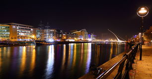 Dublin na noite Imagem de Stock Royalty Free