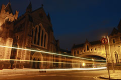 Dublin nachts stockfoto