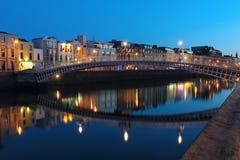 Dublin-Nachtszene Lizenzfreies Stockbild