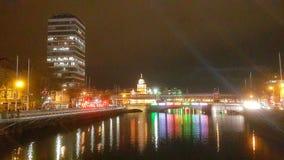 dublin night στοκ εικόνα με δικαίωμα ελεύθερης χρήσης