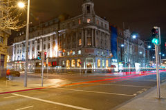 Dublin at night. O'Connell street in Dublin at night, Ireland Royalty Free Stock Image