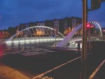 dublin night στοκ φωτογραφίες