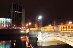 Dublin at night Royalty Free Stock Photos