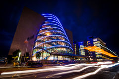 Dublin night view royalty free stock photos