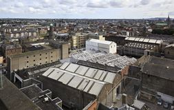 Dublin from the observation deck of Guinness Royalty Free Stock Photography