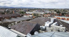 Dublin from the observation deck of Guinness Stock Image