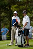 DUBLIN, OH, UNITED STATES - May 29, 2013: Bubba Watson and Caddie