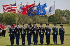 DUBLIN, OH, UNITED STATES - May 29, 2013: The Color Guard