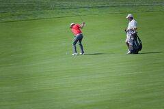 DUBLIN, OH, UNITED STATES - May 29, 2013: Rory McIlroy in Fairway