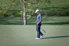 DUBLIN, OH, UNITED STATES - May 29, 2013: Tiger Woods on the Green
