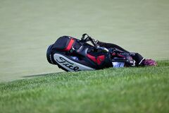 DUBLIN, OH, UNITED STATES - May 29, 2013: Titleist Golf Bag