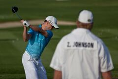 DUBLIN, OH, UNITED STATES - May 29, 2013: Zach Johnson Golf Swing