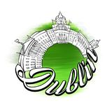 Dublin Panorama Logo Design illustration stock