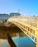 Dublin, panoramic image of Half penny bridge Royalty Free Stock Image