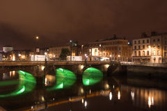 Dublin par Night Photos libres de droits