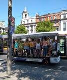 Dublin Pedal Tours arkivbilder