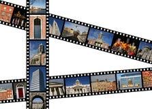 Dublin photos. Film strips with travel photos. Dublin, Ireland, Europe Royalty Free Stock Photography