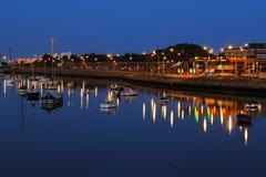 Dublin Port gesehen von der Osten-Link-Mautbrücke stockbilder