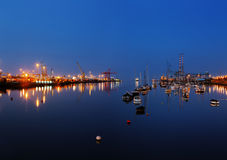 Dublin Port seen from the East-Link Toll Bridge Stock Images