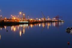 Dublin Port visto del puente de peaje del Este-vínculo Imagenes de archivo