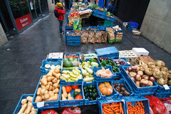 Dublin's bio vegetables open market Stock Image