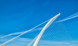 Dublin-Samuel Beckett Bridge royalty-vrije stock foto