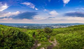 Dublin seen from mountain. Dublin city seen from the nearby mountains Royalty Free Stock Photo