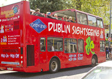 Dublin Sightseeing Bus Stock Photo