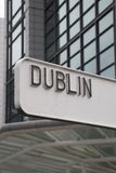 Dublin Signpost, Irlande photo stock