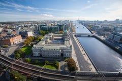 Dublin Skyline Arkivbild