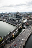 Dublin Skyline Arkivfoton