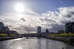 Dublin Skyline Fotos de archivo libres de regalías