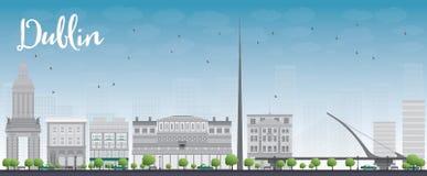 Dublin Skyline avec Grey Buildings et le ciel bleu, Irlande Photographie stock