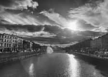 Dublin Skyline. In Black And White royalty free stock images