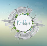 Dublin Skyline with Gray Buildings, Blue Sky and Copy Space. Dublin Skyline with Gray Buildings, Blue Sky and Copy Space, Ireland. Vector Illustration. Business royalty free illustration