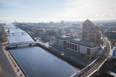 Dublin Skyline. From Liberty Hall royalty free stock images