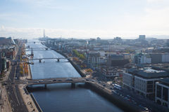 Dublin Skyline. From Liberty Hall Stock Photo