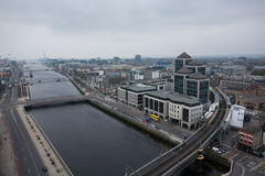 Dublin Skyline. From Liberty Hall stock image