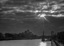 Dublin Skyline. Taken from river liffey Stock Images