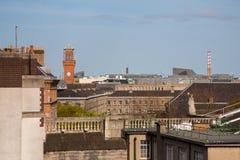 Dublin Skyline. A view over the skyline of Dublin from Temple Bar looking eastwards Stock Photos